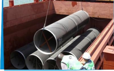 שינוע צינורות ענק עבור חברת ״מקורות״